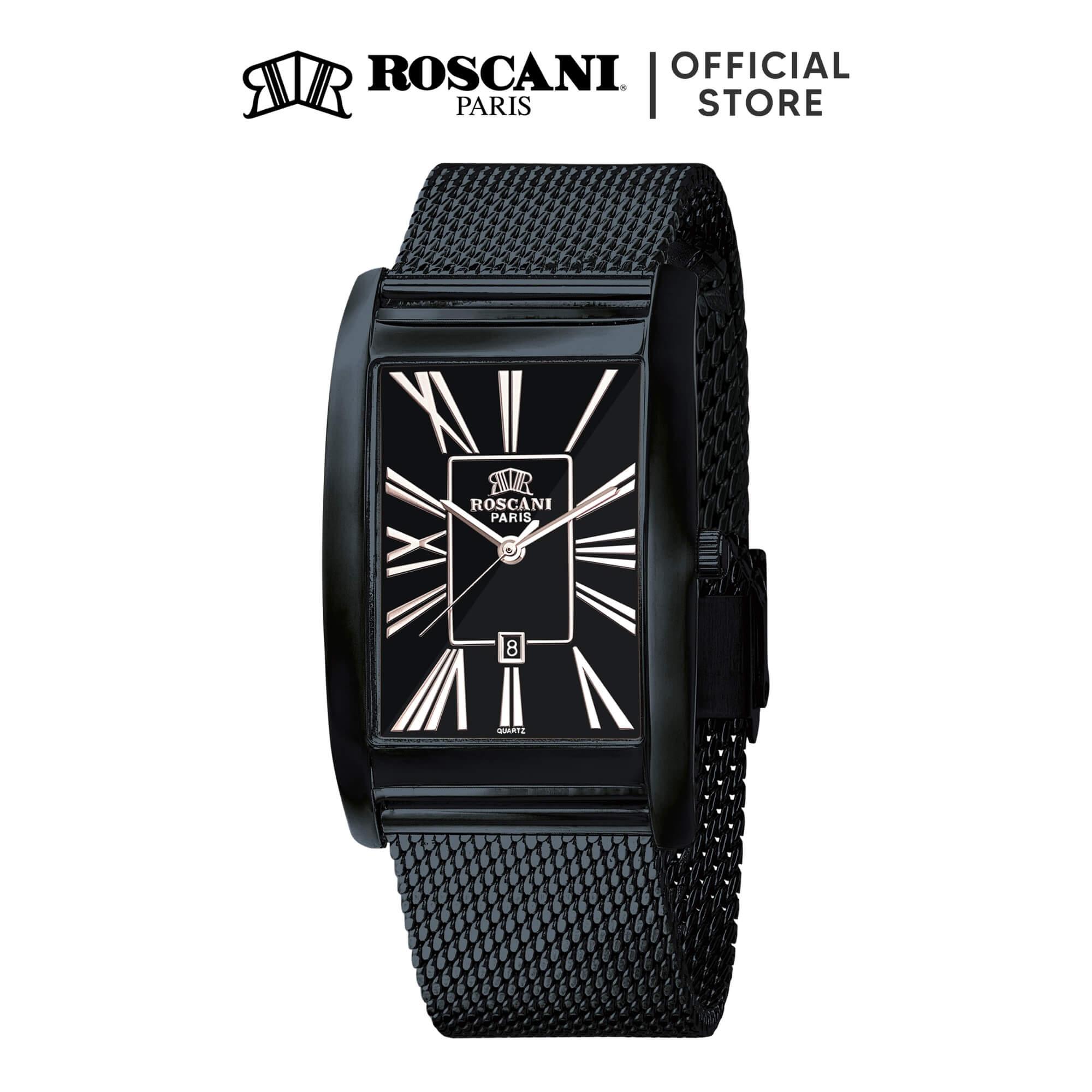 Roscani Ryan 405 (Curved Crystal) Mesh Men Watch