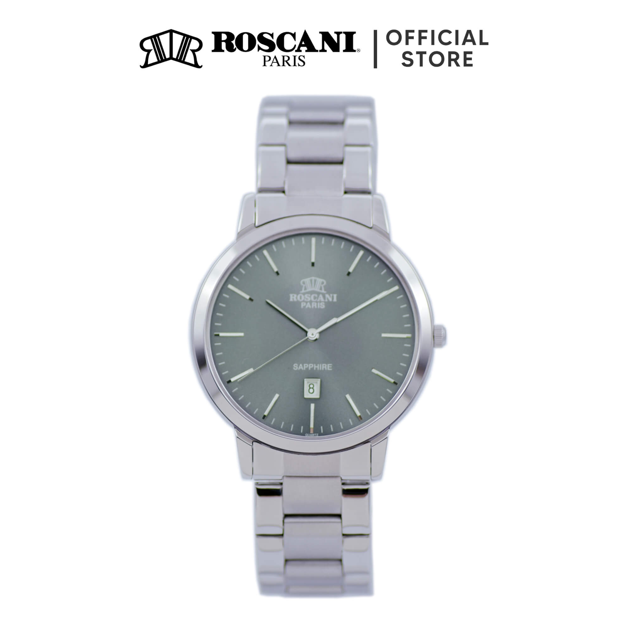 Roscani Presley 407 (Sunray Dial + Sapphire Crystal) Bracelet Men Watch