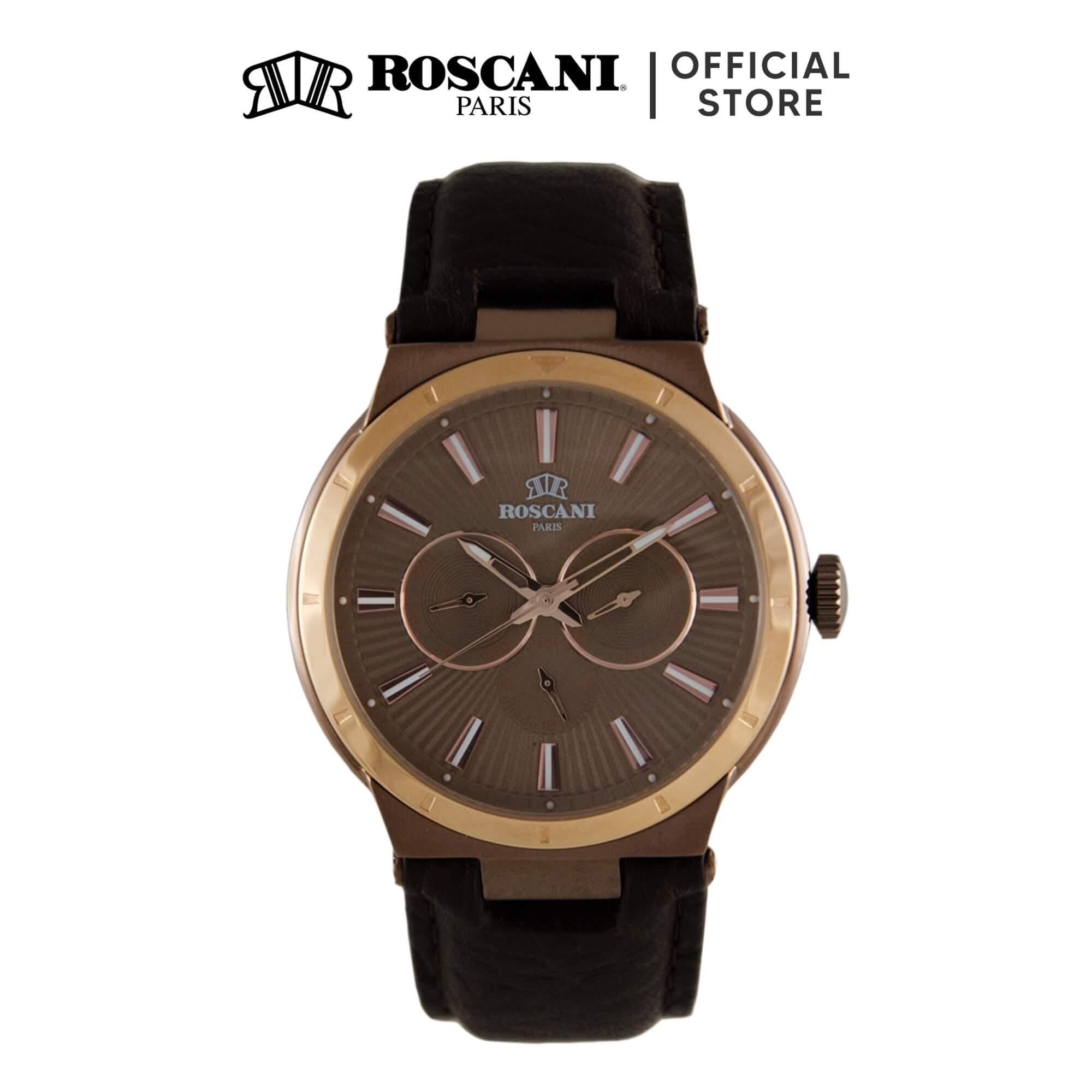 Roscani Mark M 912M (Multifunction + WR 5ATM) Leather Men Watch