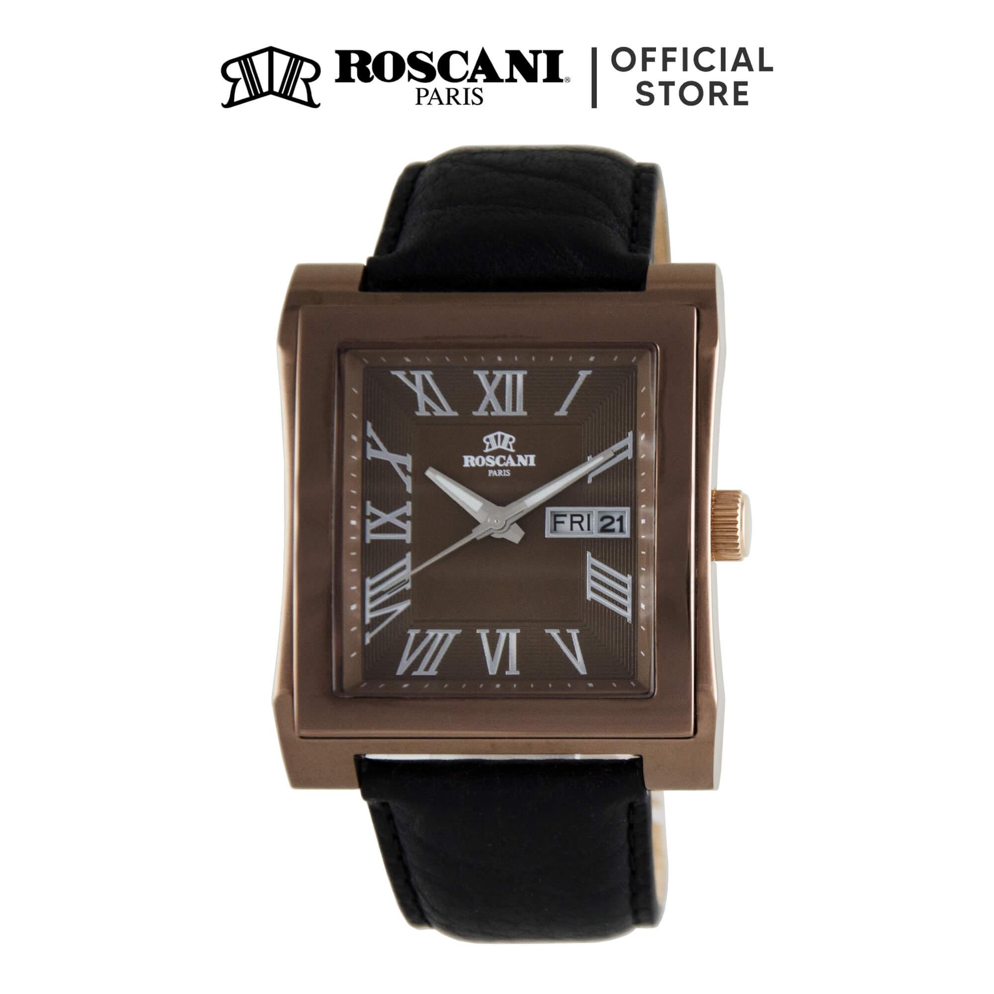 Roscani Davis 913 (Sunray Dial + WR 5ATM) Leather Men Watch
