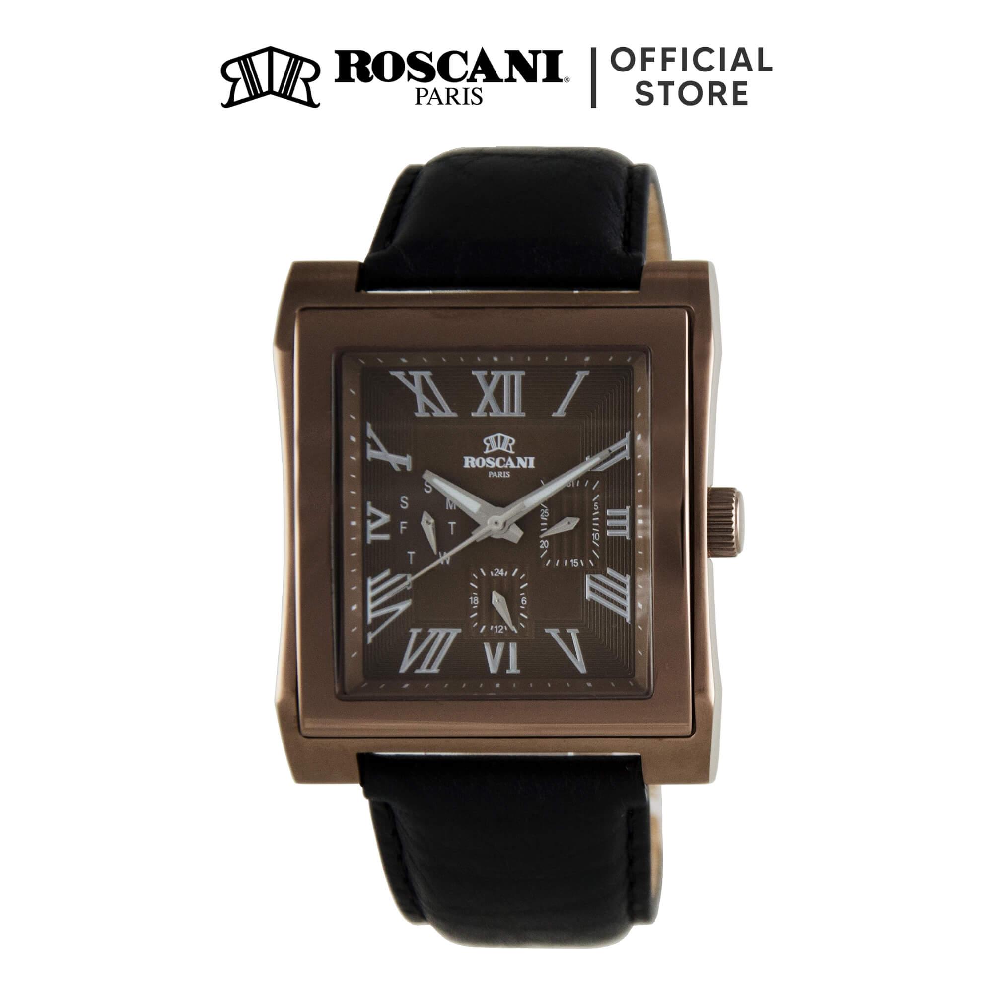 Roscani Davis M 913M (Multifunction + WR 5ATM) Leather Men Watch