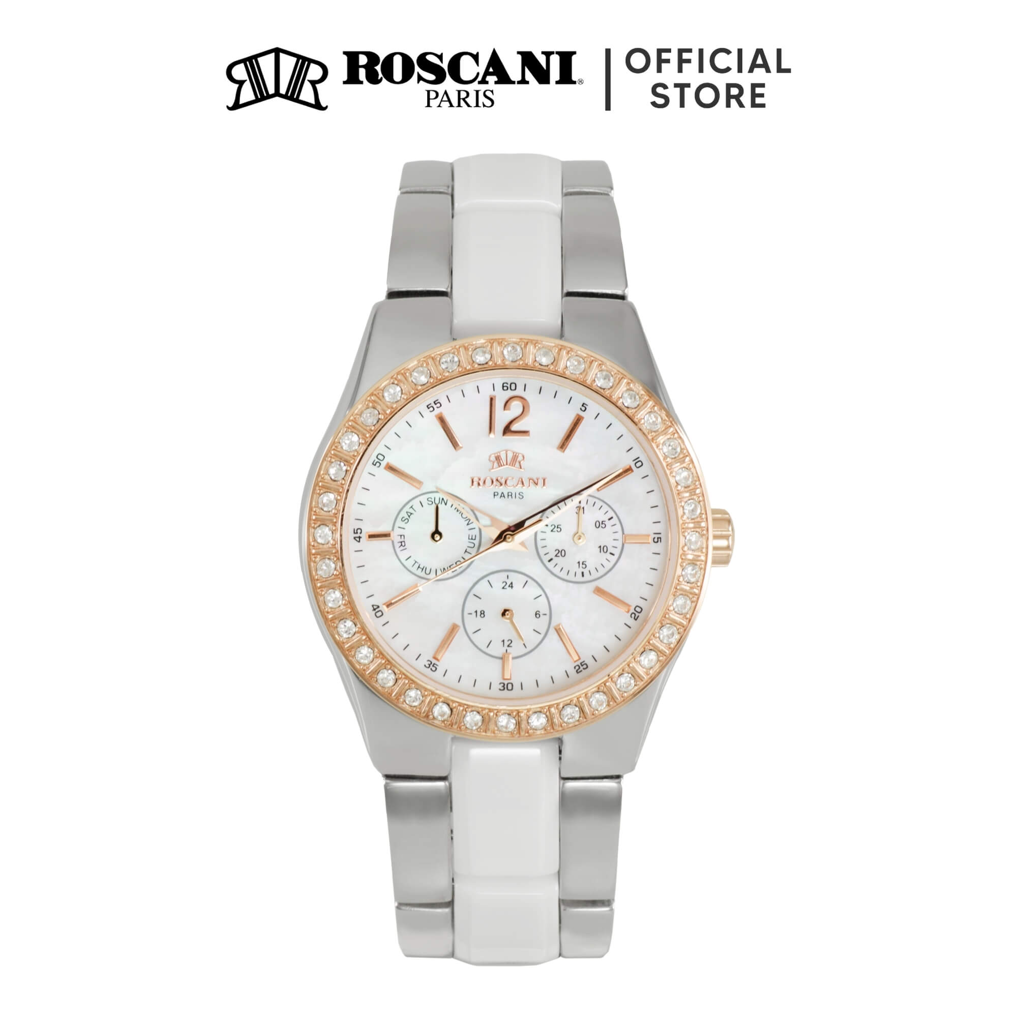 Roscani Evelynn 919 (Multifunction + WR 5ATM) Bracelet Women Watch