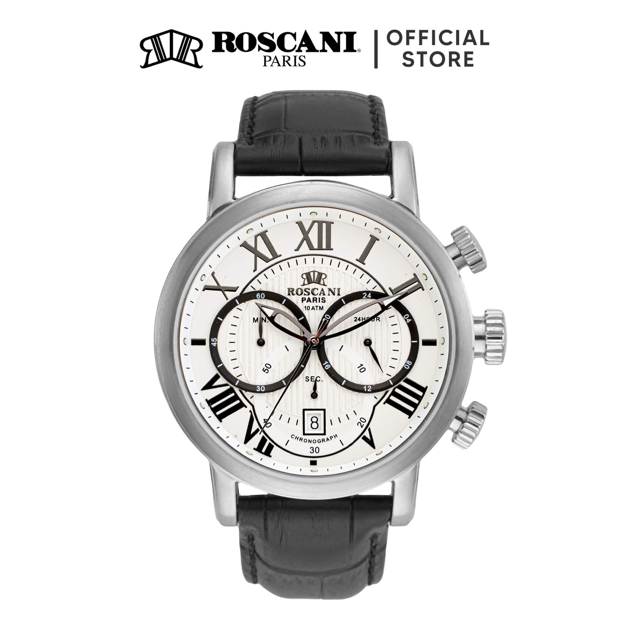 Roscani Julius 955 (Chronograph + WR 10ATM) Leather Men Watch