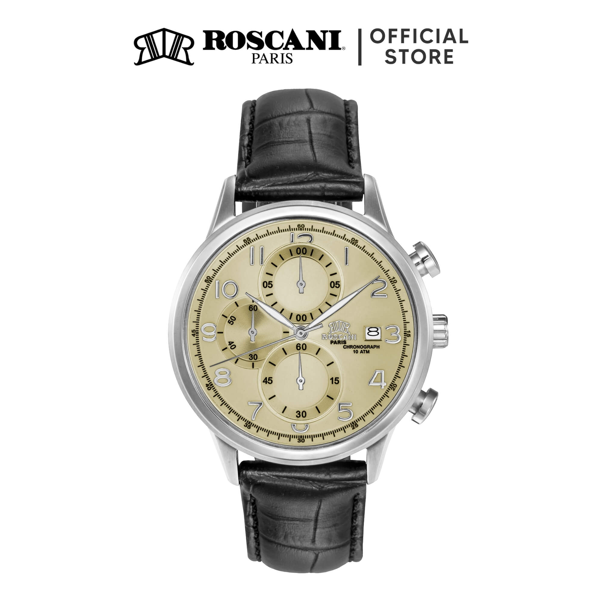 Roscani Katherine S 963S (Chronograph + WR 10ATM) Leather Men Watch