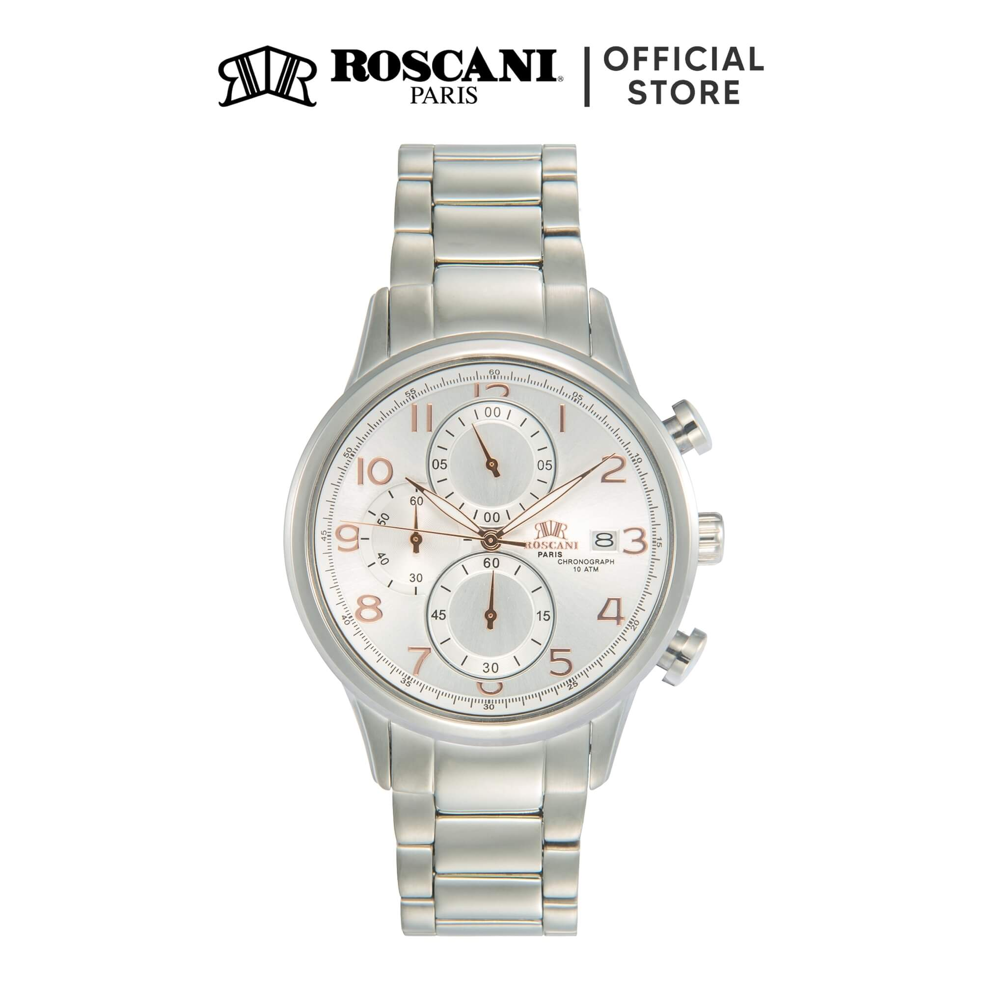 Roscani Katherine 963 (Chronograph + WR 10ATM) Bracelet Men Watch
