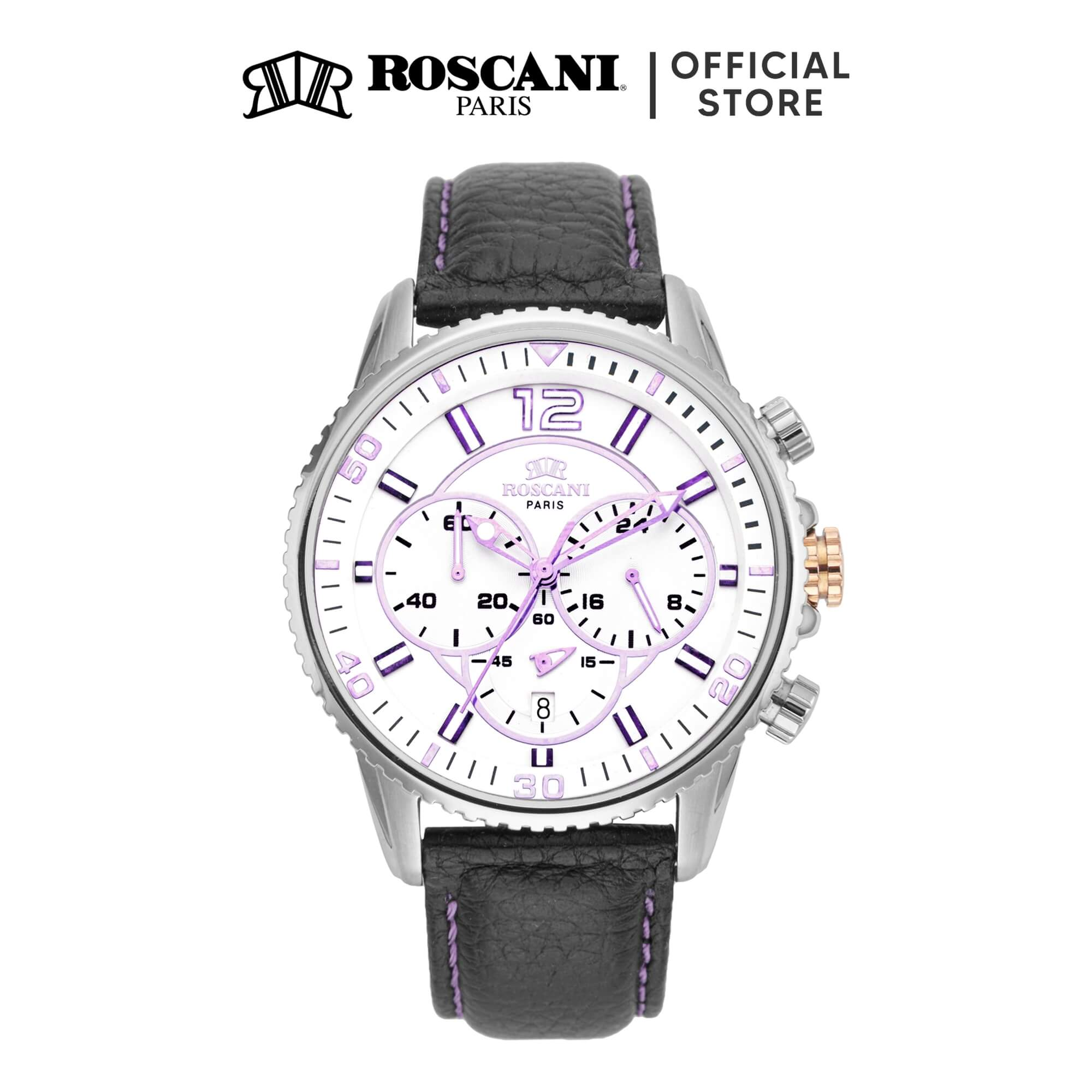 Roscani Cole 968 (Chronograph + WR 10ATM) Leather Men Watch