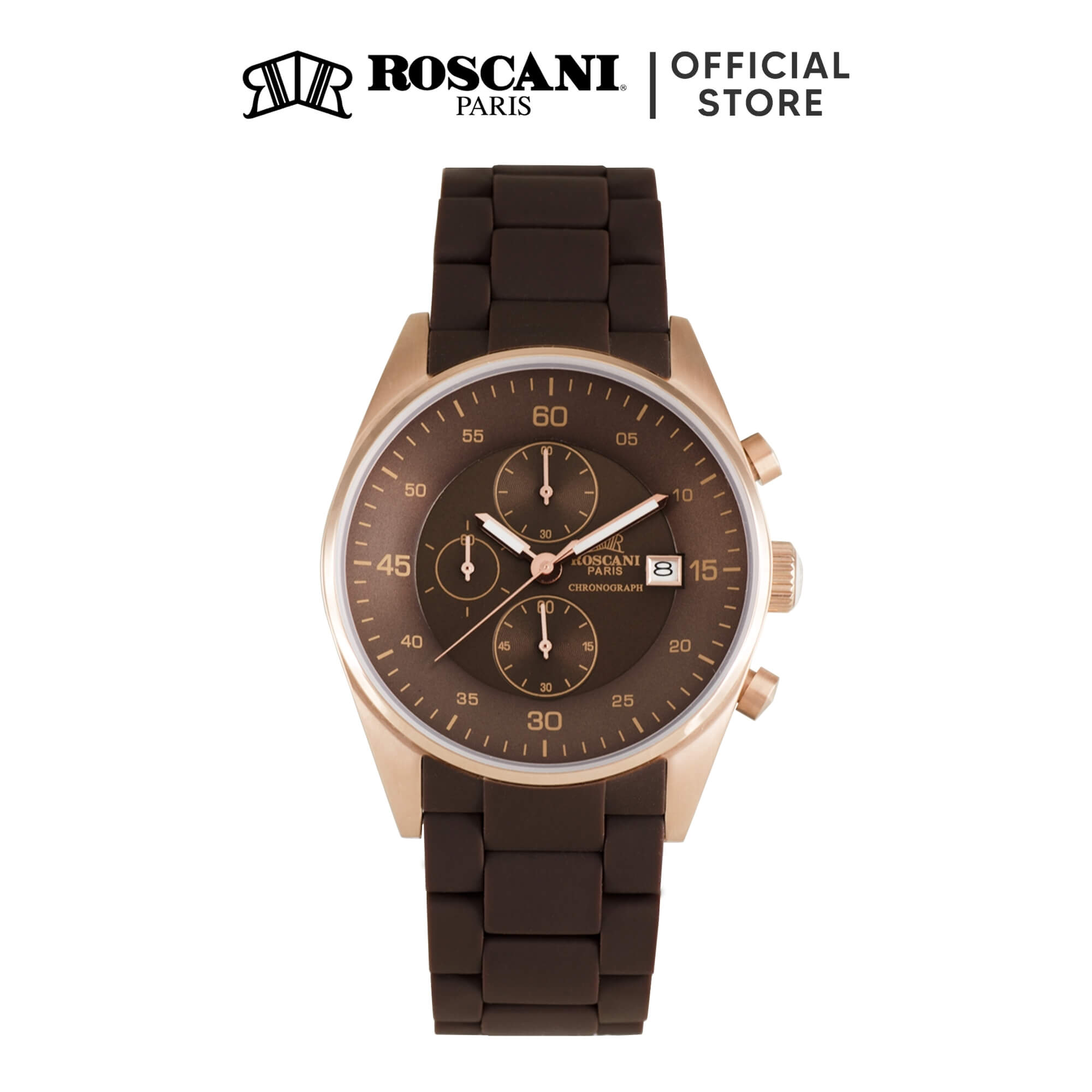 Roscani Noelle 972 (Chronograph + WR 10ATM) Silicone Men Watch