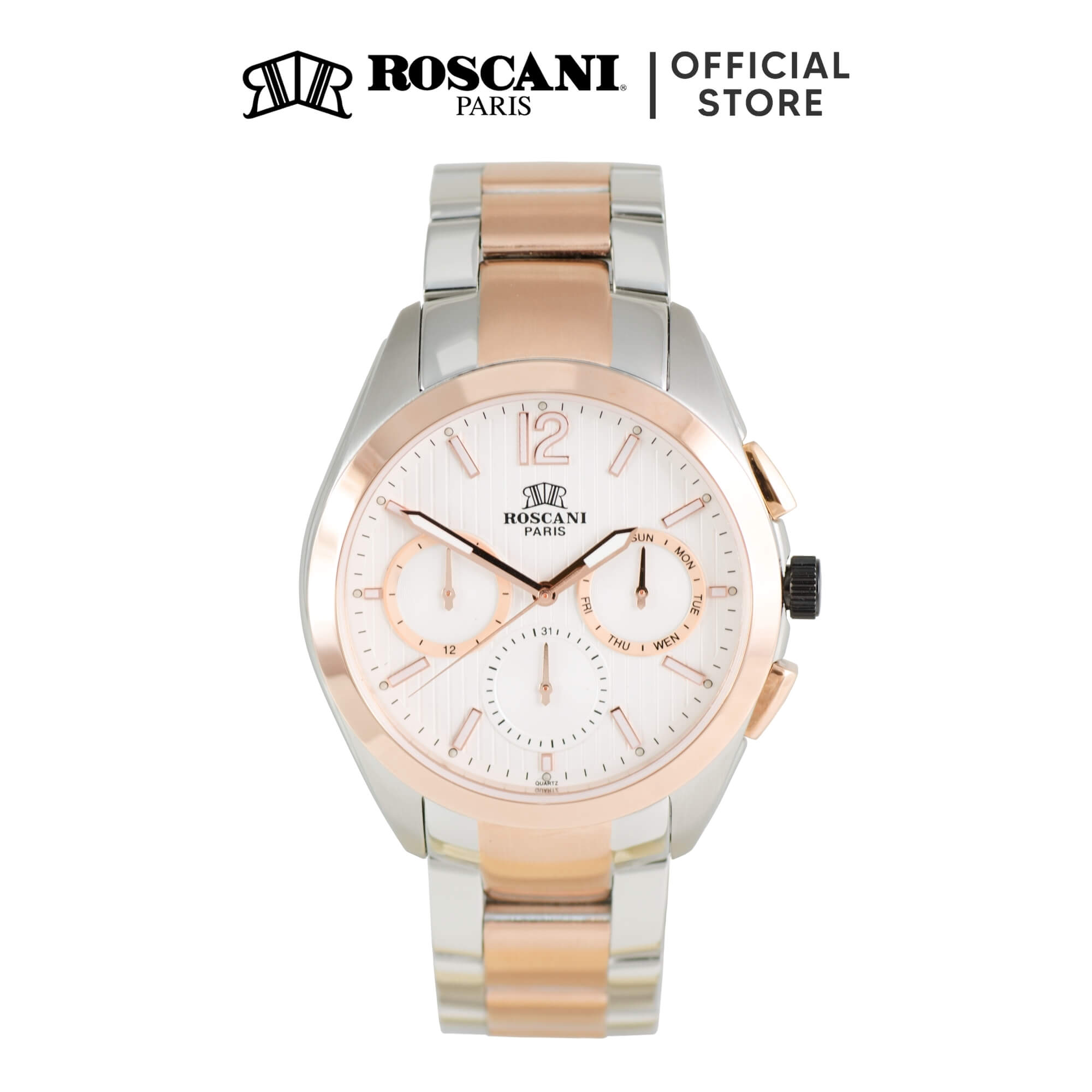 Roscani Prince 974 (Multifunction + WR 5ATM) Bracelet Men Watch