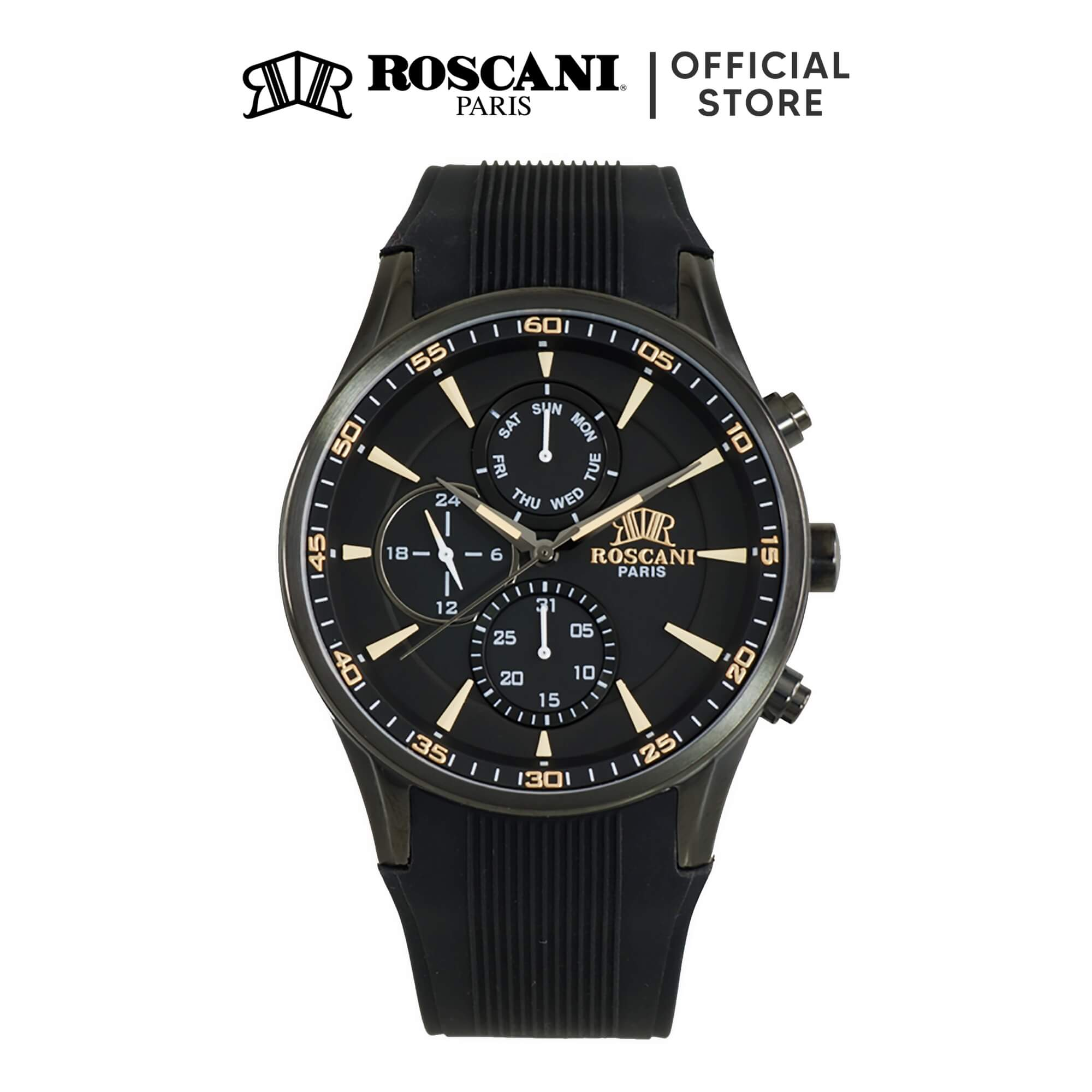 Roscani Raymond 987 (Multifunction) Silicone Men Watch