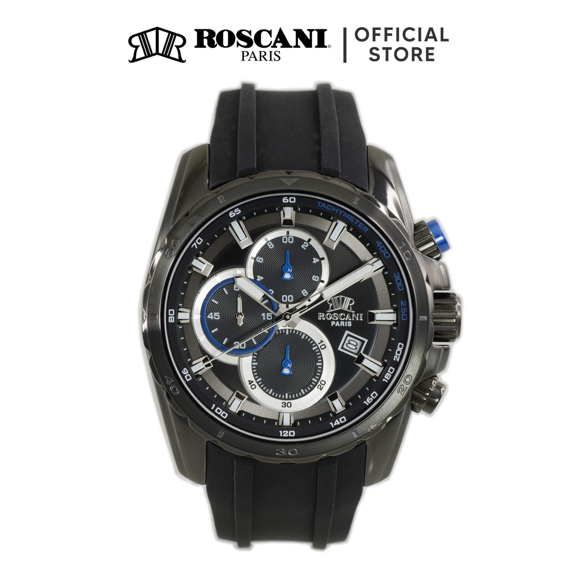 Roscani Gustav 989 (Chronograph + WR 5ATM) Silicone Men Watch