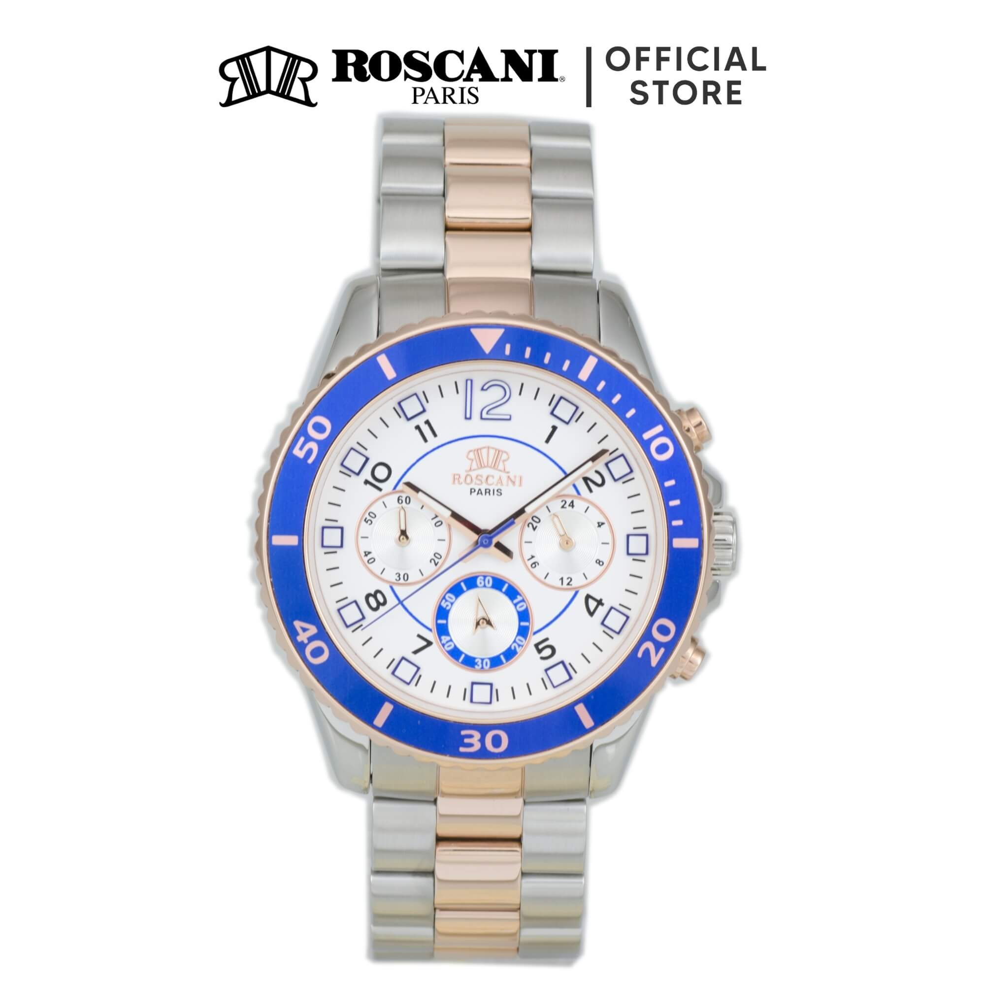 Roscani Liam 990 (Multifunction + WR 5ATM) Bracelet Men Watch