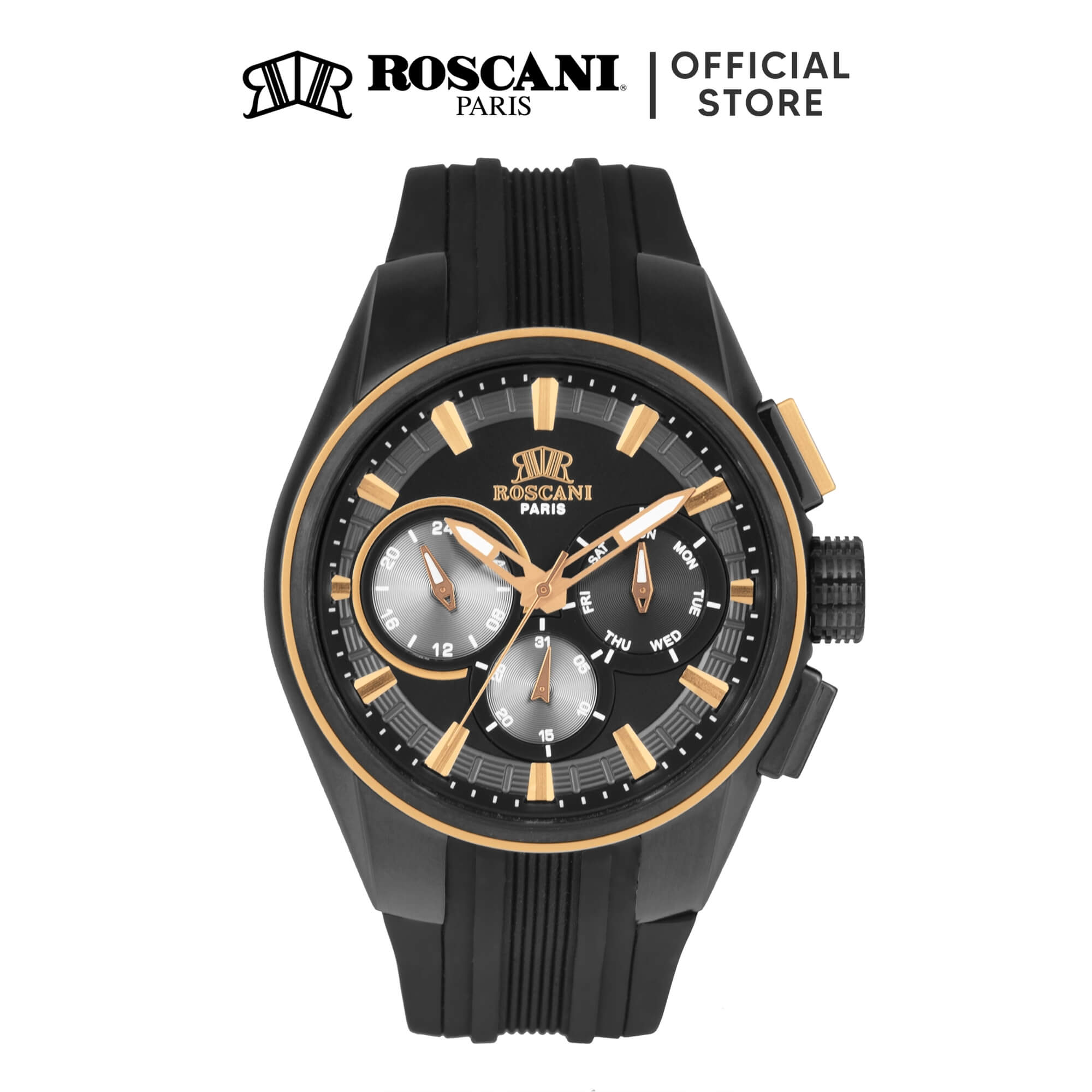 Roscani Romain 991 (Multifunction) Silicone Men Watch