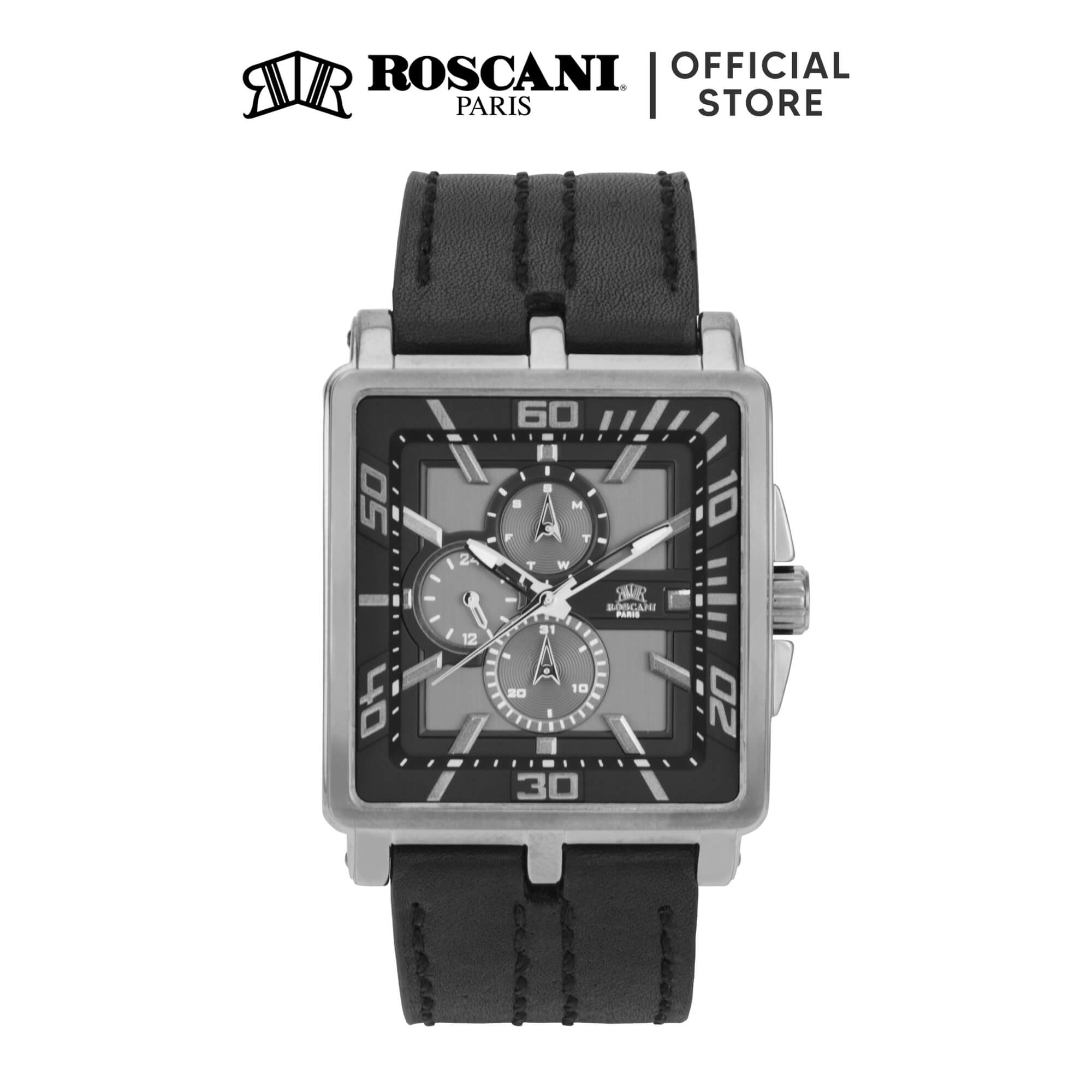 Roscani Finley 993 (Multifunction + WR 5ATM) Leather Men Watch