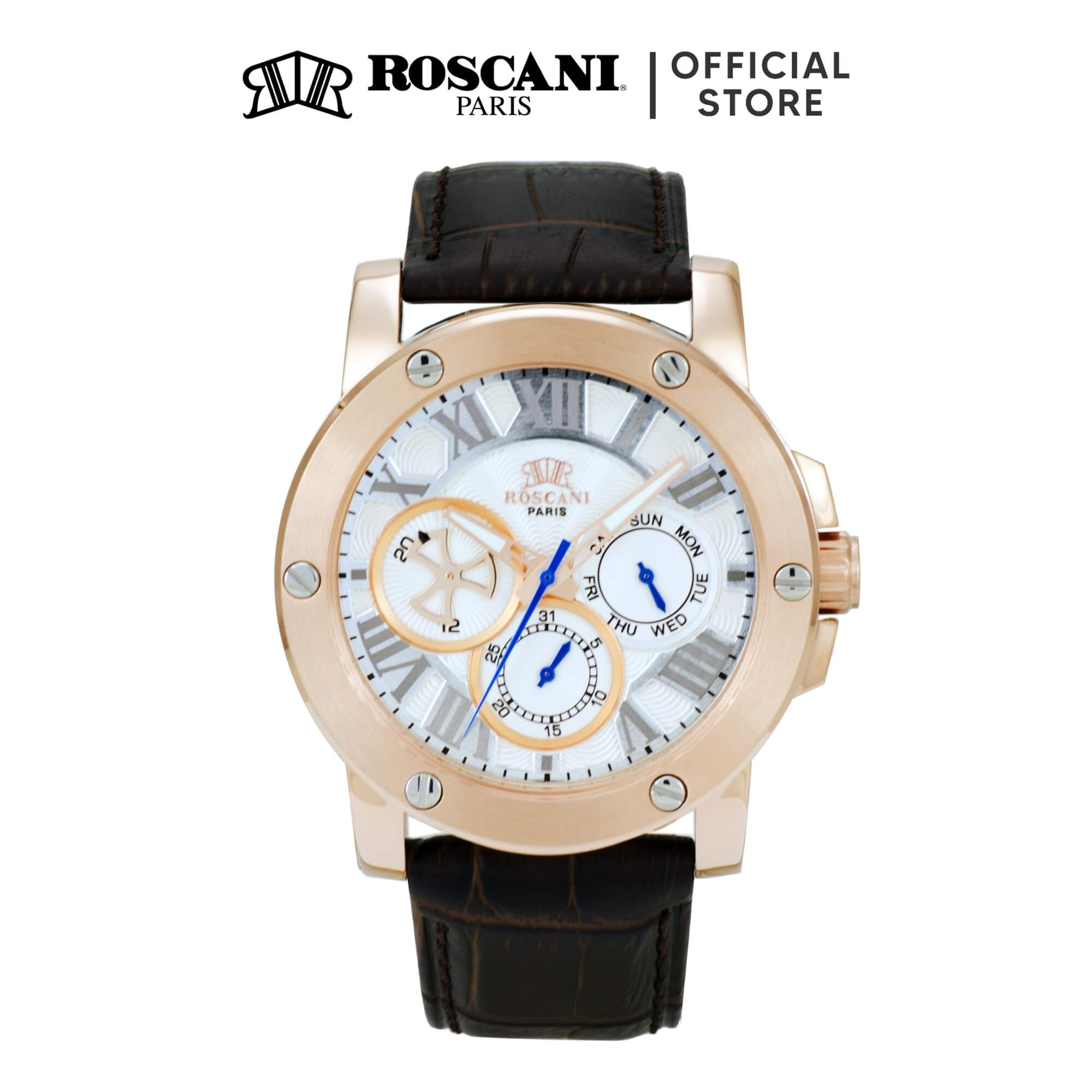 Roscani Spencer 996 (Multifunction + WR 5ATM) Leather Men Watch