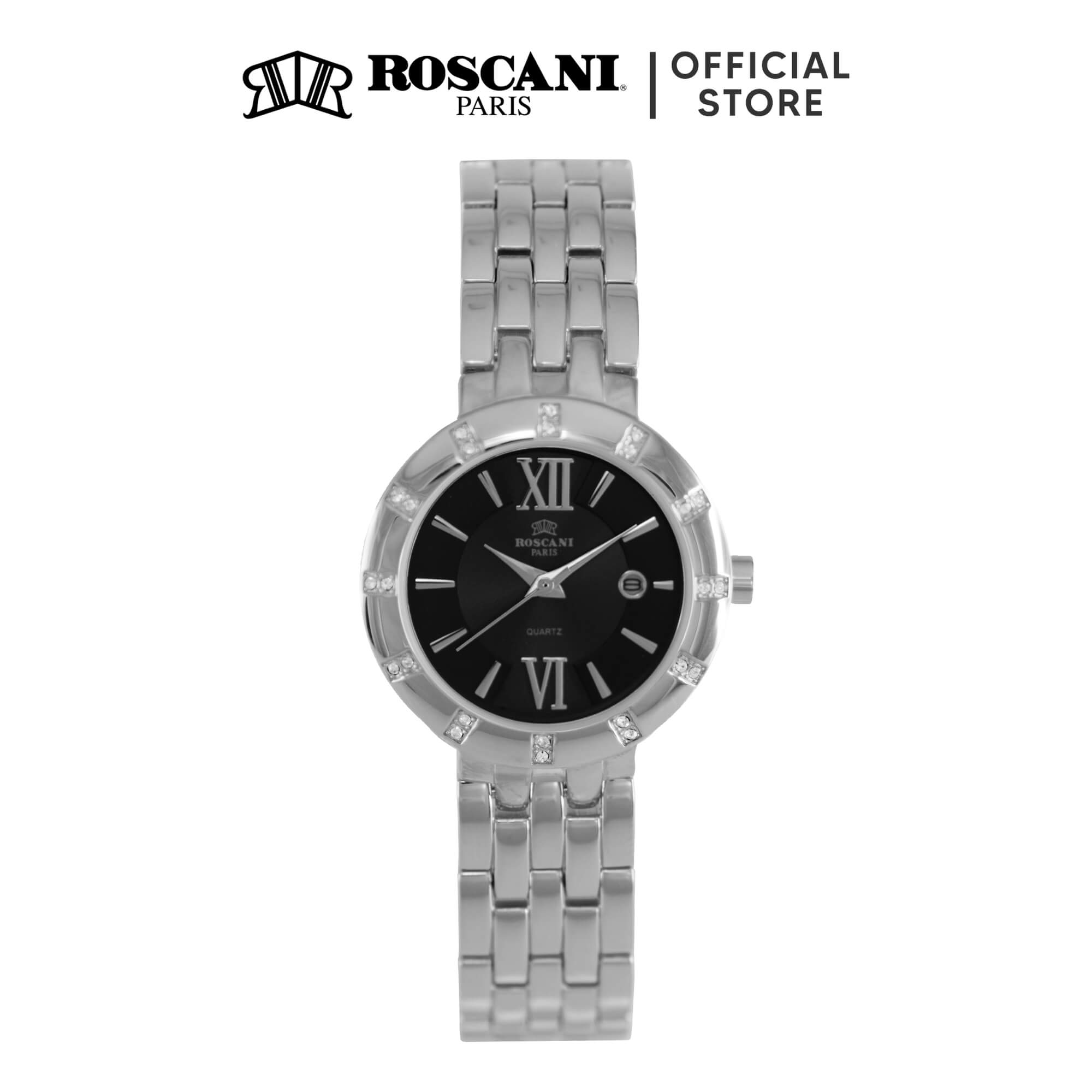 Roscani Crystal B07 (Sunray Dial + Curved Crystal) Bracelet Women Watch