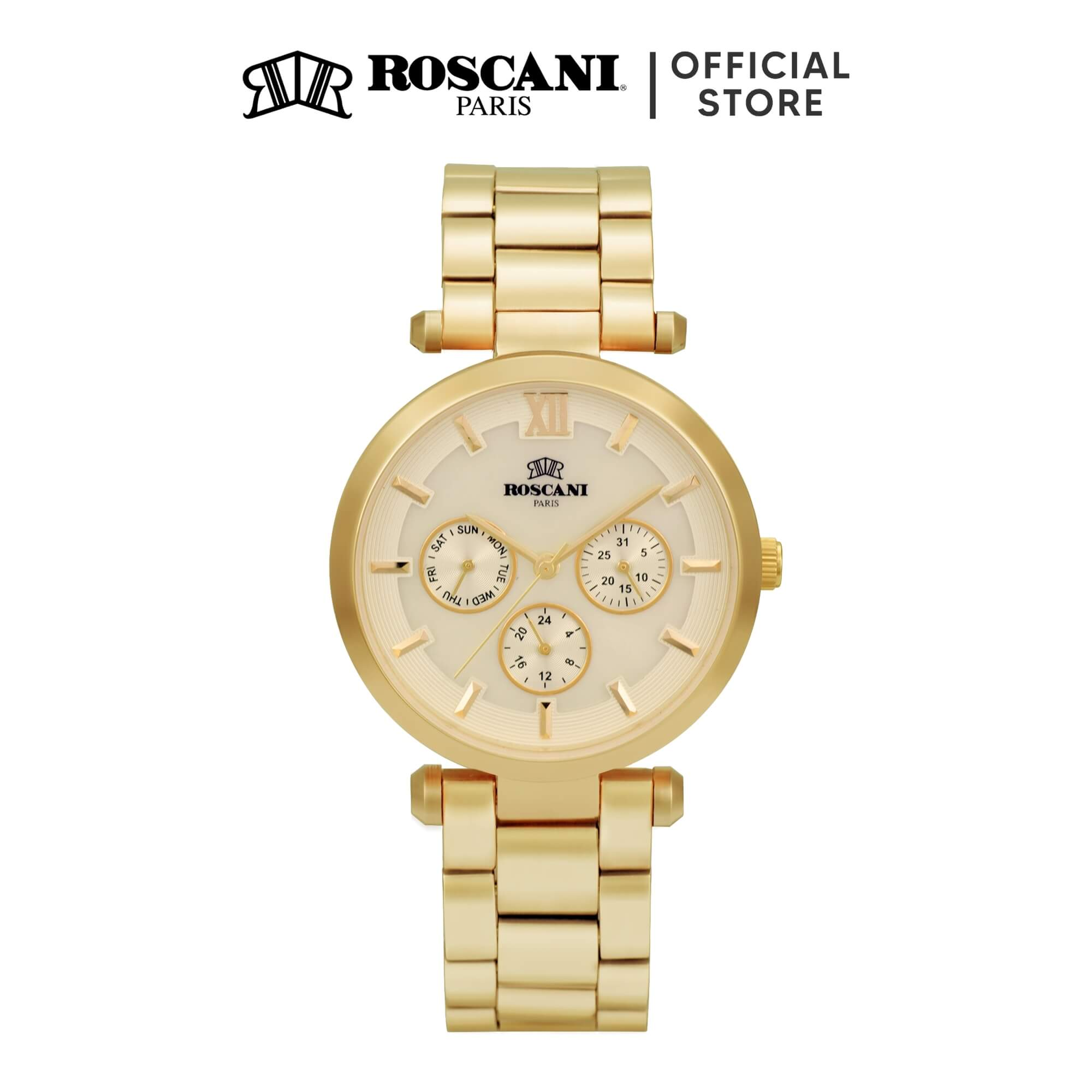 Roscani Chanel B45 (Multifunction + WR 5ATM) Bracelet Women Watch