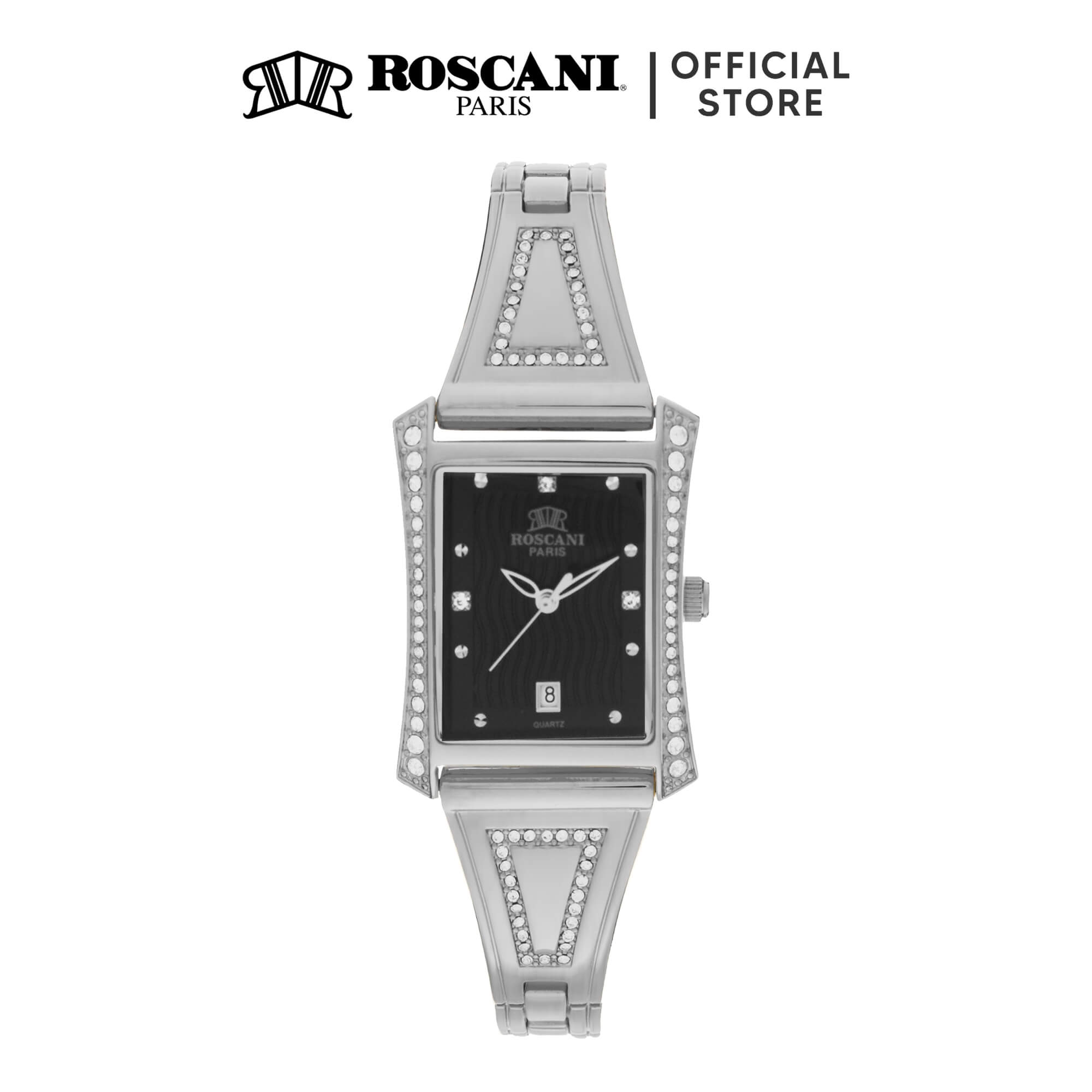 Roscani Kennedi B61 (Curved Crystal) Bracelet Women Watch