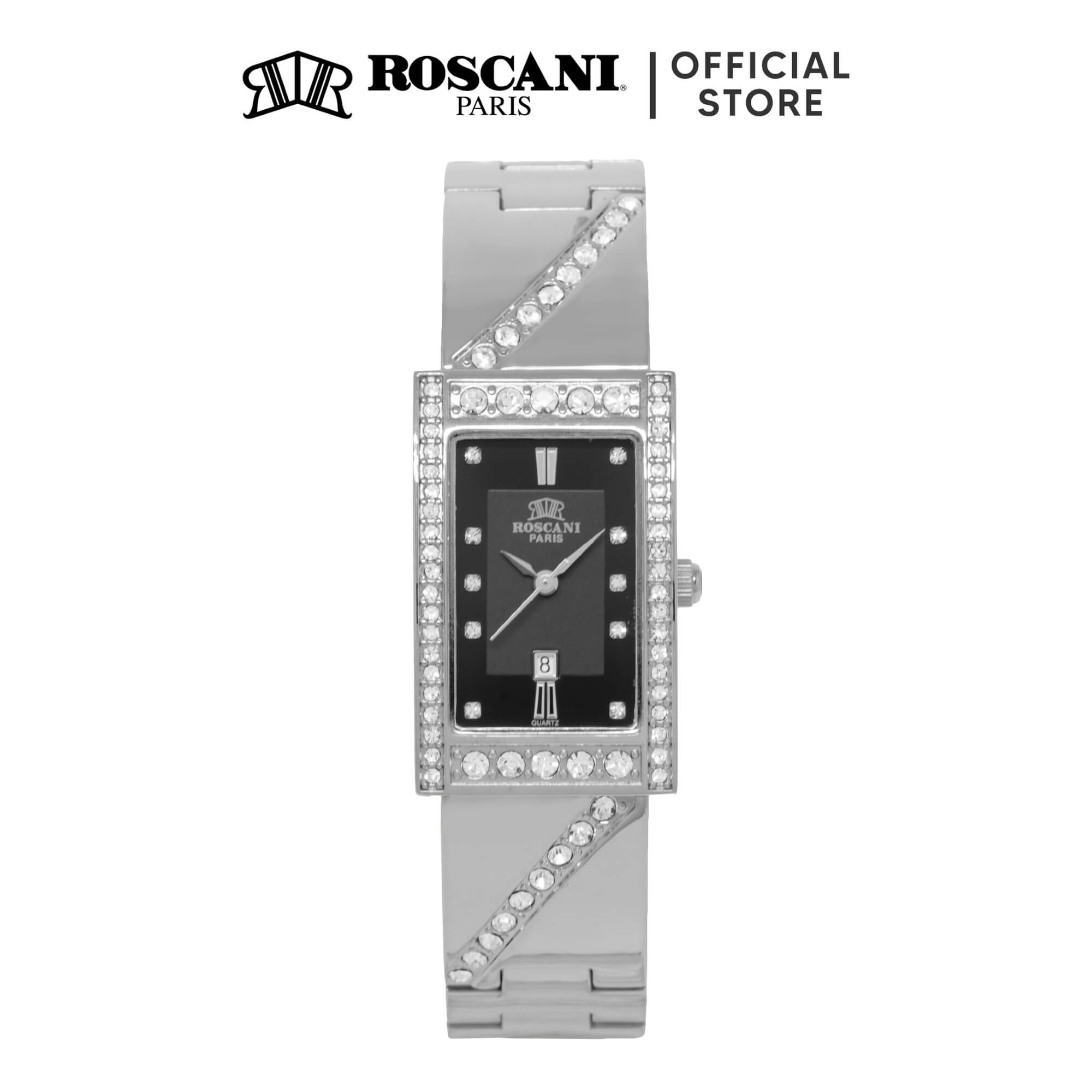 Roscani Rosemary B75 (Curved Crystal + Platinum Plating) Bracelet Women Watch