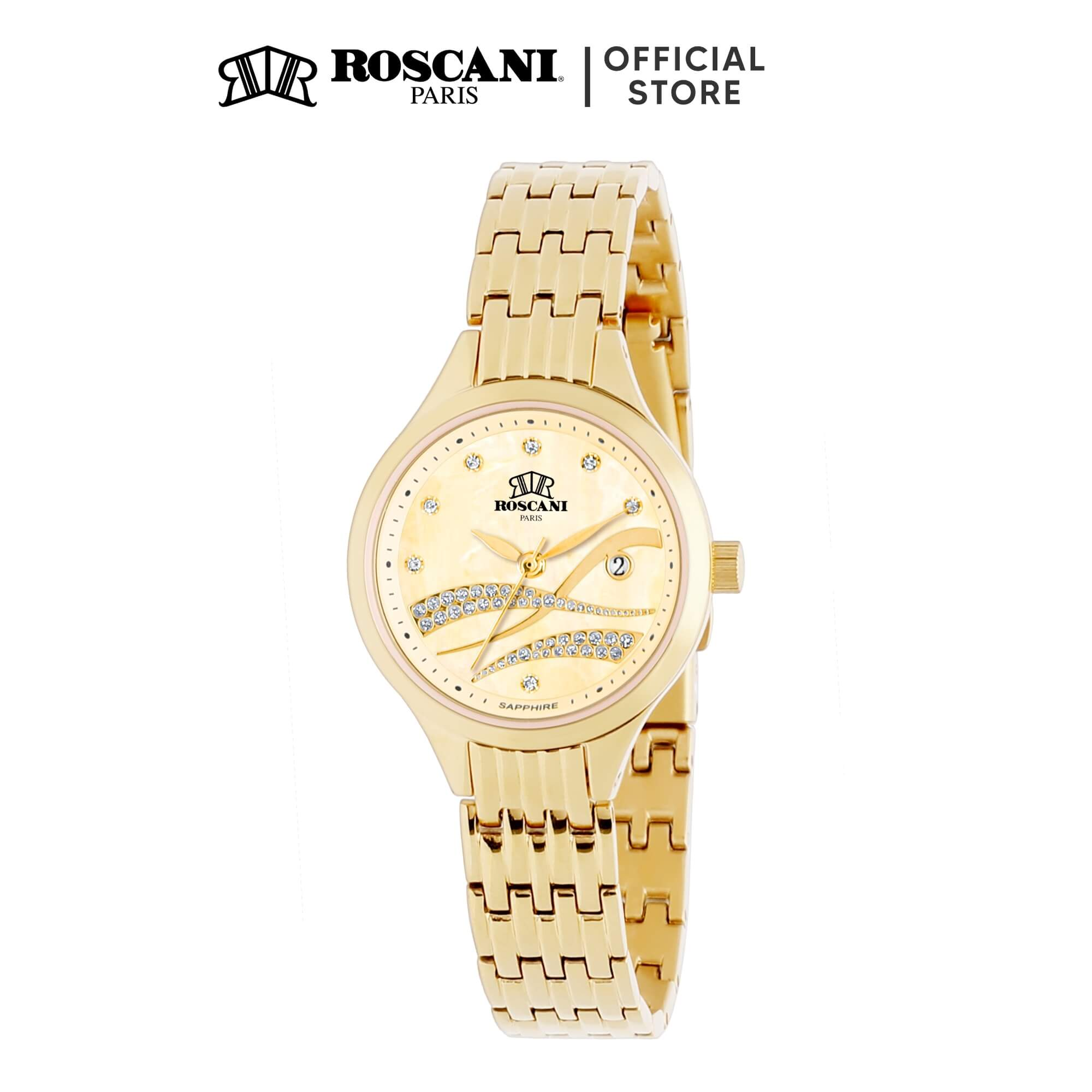 Roscani Leyla E18 (Mother of Pearl Dial + WR 5ATM) Bracelet Women Watch