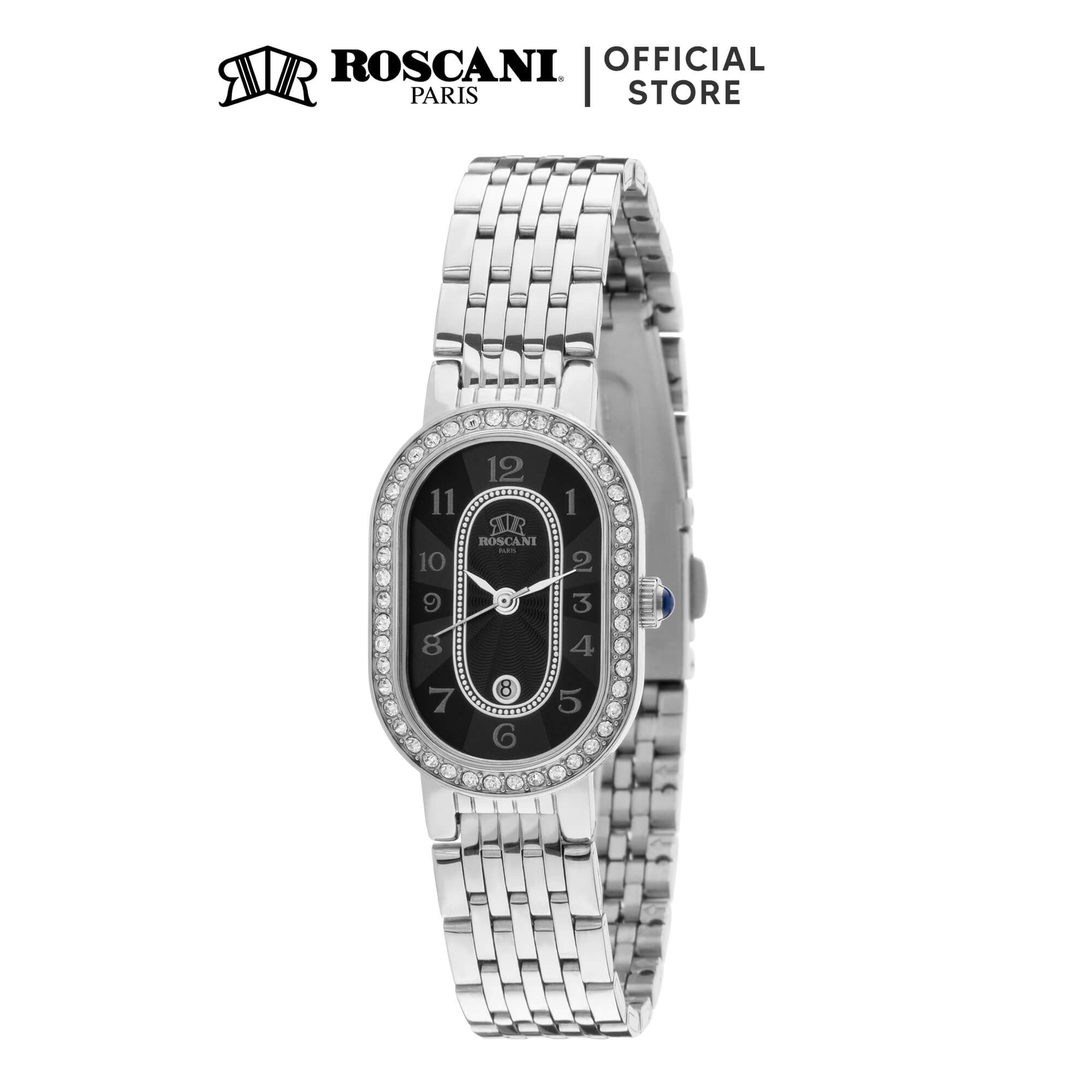 Roscani Vera E27 (Curved Crystal + Rounded Rectangle Case) Bracelet Women Watch